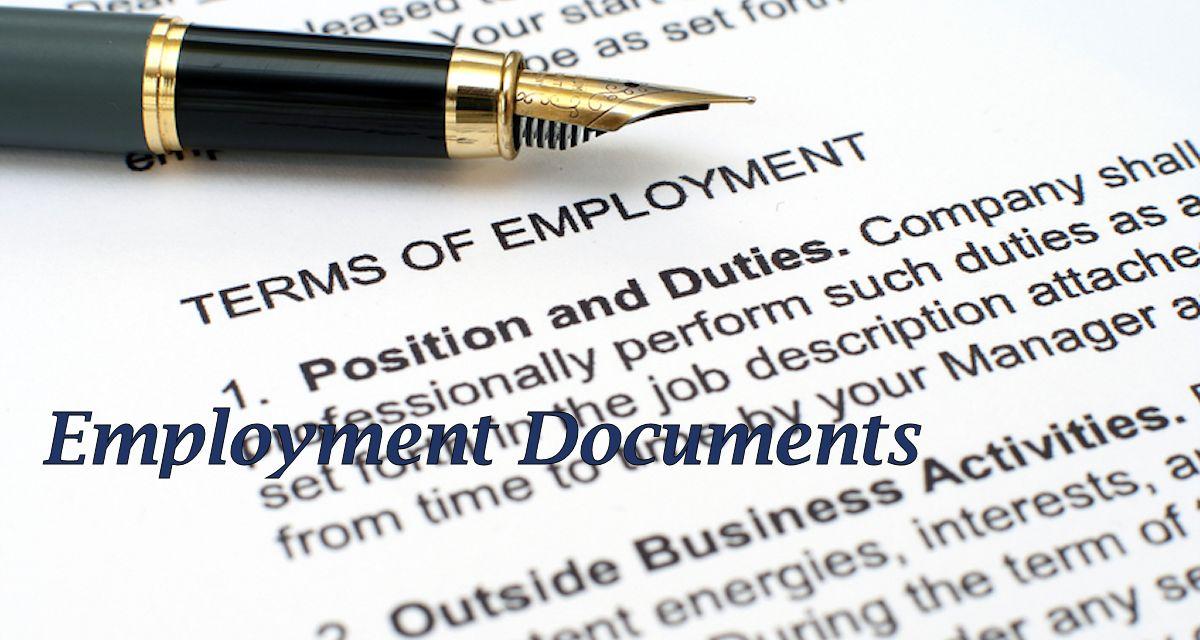 Employment Contract Employee Handbook